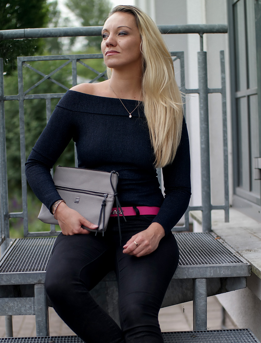 Outfit Bardot Top & G-Star Mesh Clutch | hot-port.de | 30+ Style Blog