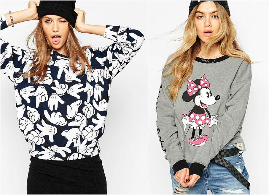 Fashion Love Comic Sweaty | Mickey & Minnie sind wieder voll angesagt
