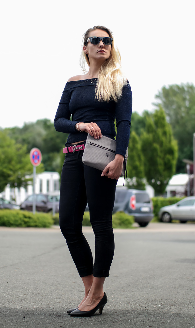 Outfit Bardot Top & G-Star Clutch | hot-port.de | 30+ Style Blog