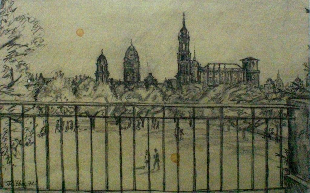 1972  Blick auf Dresden vom Japanischen Palais