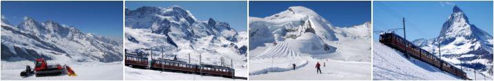 Sommer Skifahren Europa