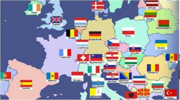 Länderkarte EU cc trussardi.ch / ch-info.ch klick +++