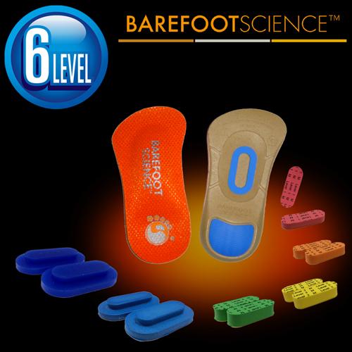 BAREFOOT SCIENCE 中級・運動 スポーツ用インソール 3/4サイズ