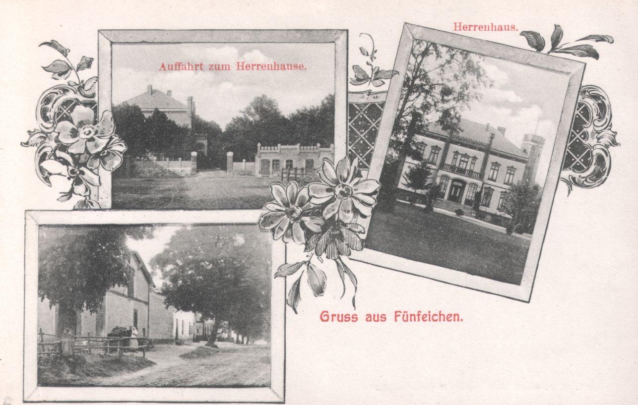 Advokat Leoper baute in nach der Neuverteilung der Feldmark sein Gut auf dem Stargarder Schlag und nannte es Fünfeichen.