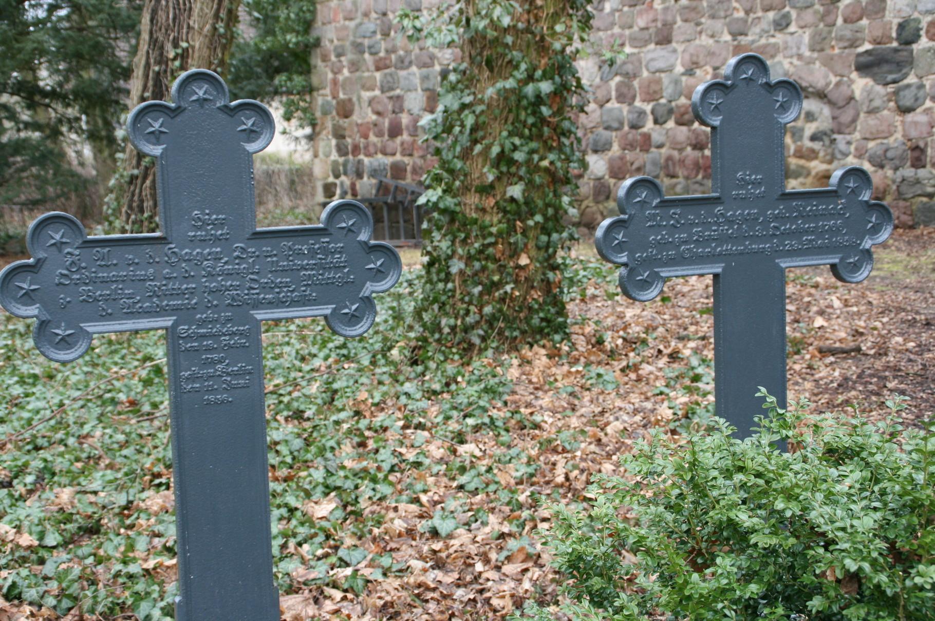 Die Grabkreuze wurden 2011 auf Initiative der Nachfahrin Iren Freifrau von Gall restauriert.