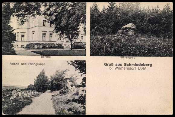 Schmiedeberg zu Anfang des 20. Jahrhunderts