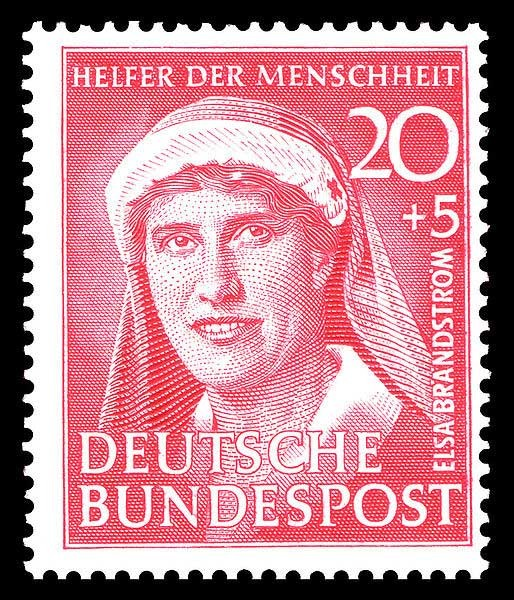 Die Bundespost ehrte sie 1951 als Helfer der Menschheit mit einer eigenen Briefmarke