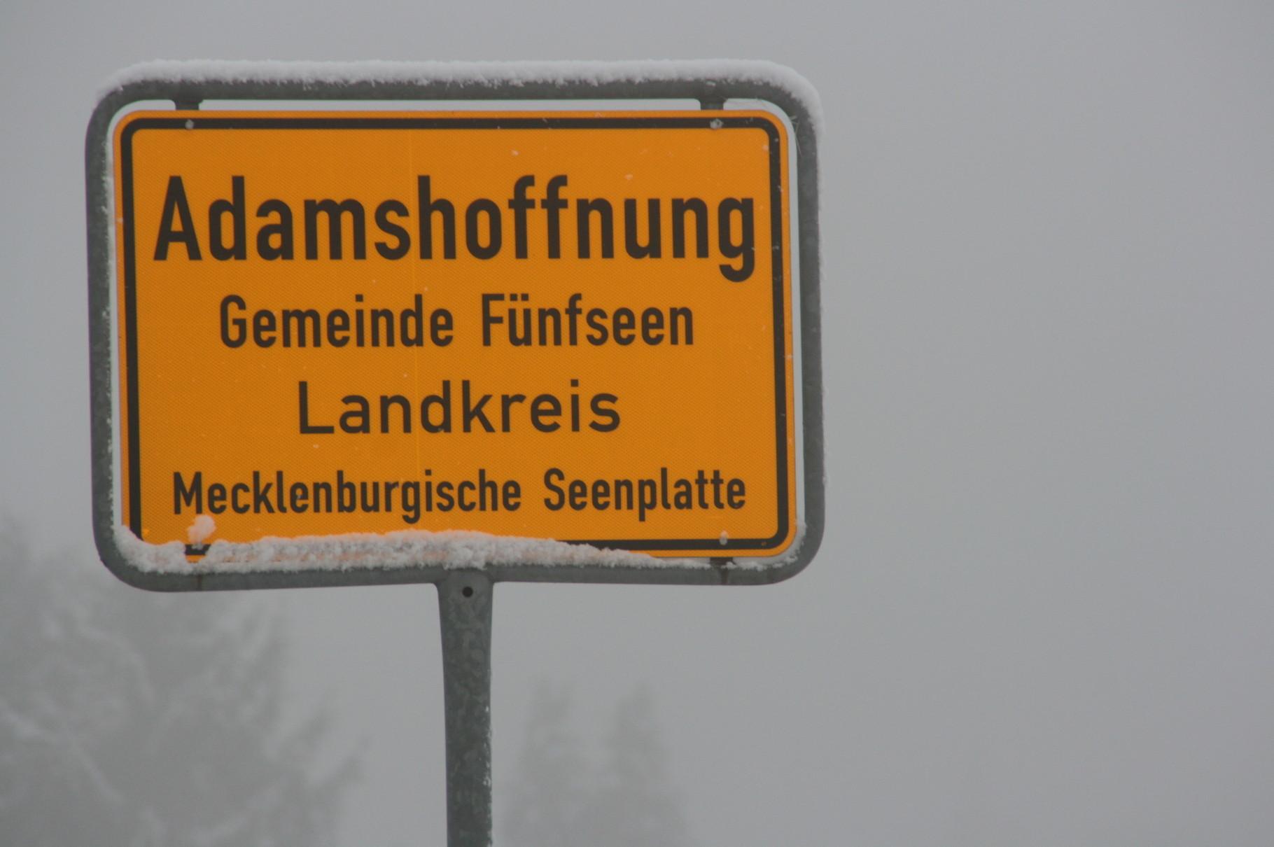 Adam von der Lücken legte den Gutshof Adamshoffnung bei Malchow an.