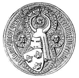 Das von Albrecht III. verwendete königliche Siegel mit den drei Kronen