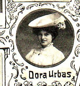 Schauspielerin Dora Urbas, spätere Condessa de Matzenau. Sie war die Geliebte von Großherzog Adolph Friedrich V.