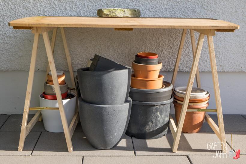 DIY Pflanztisch fürs kleine Budget