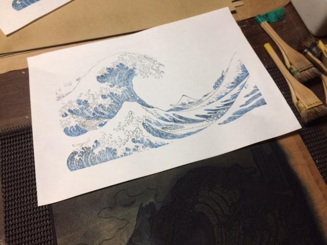 神奈川沖浪裏 見当合わせ Great wave off kanagawa Hokusai