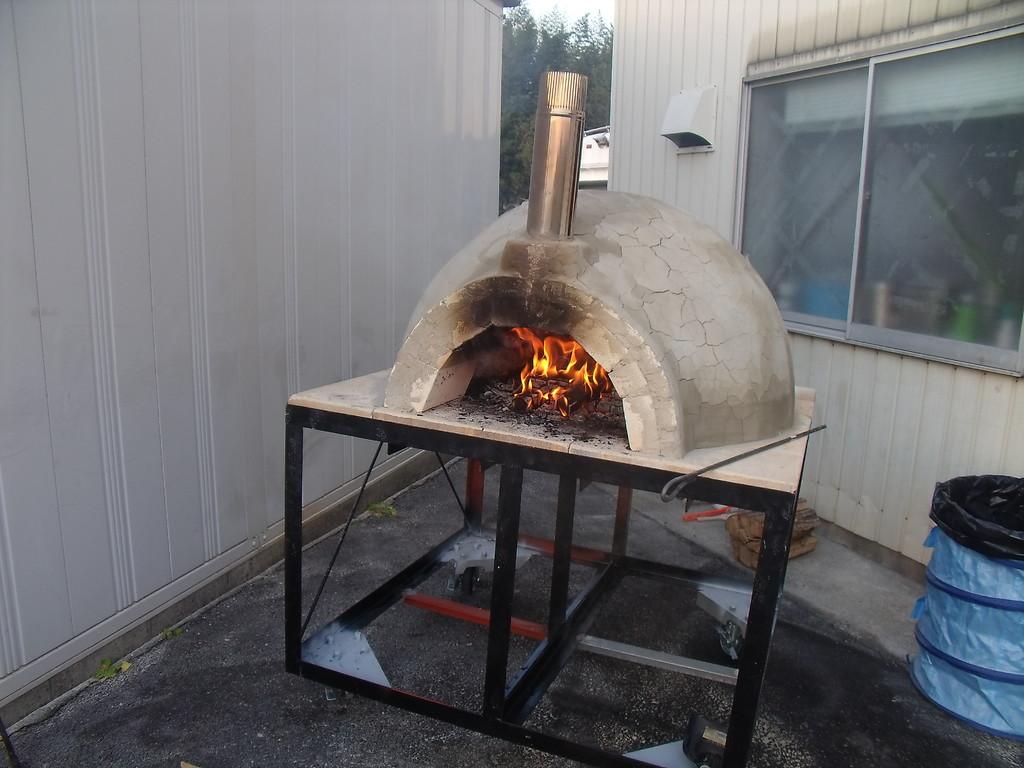 窯の火入れ 耐火レンガの乾燥
