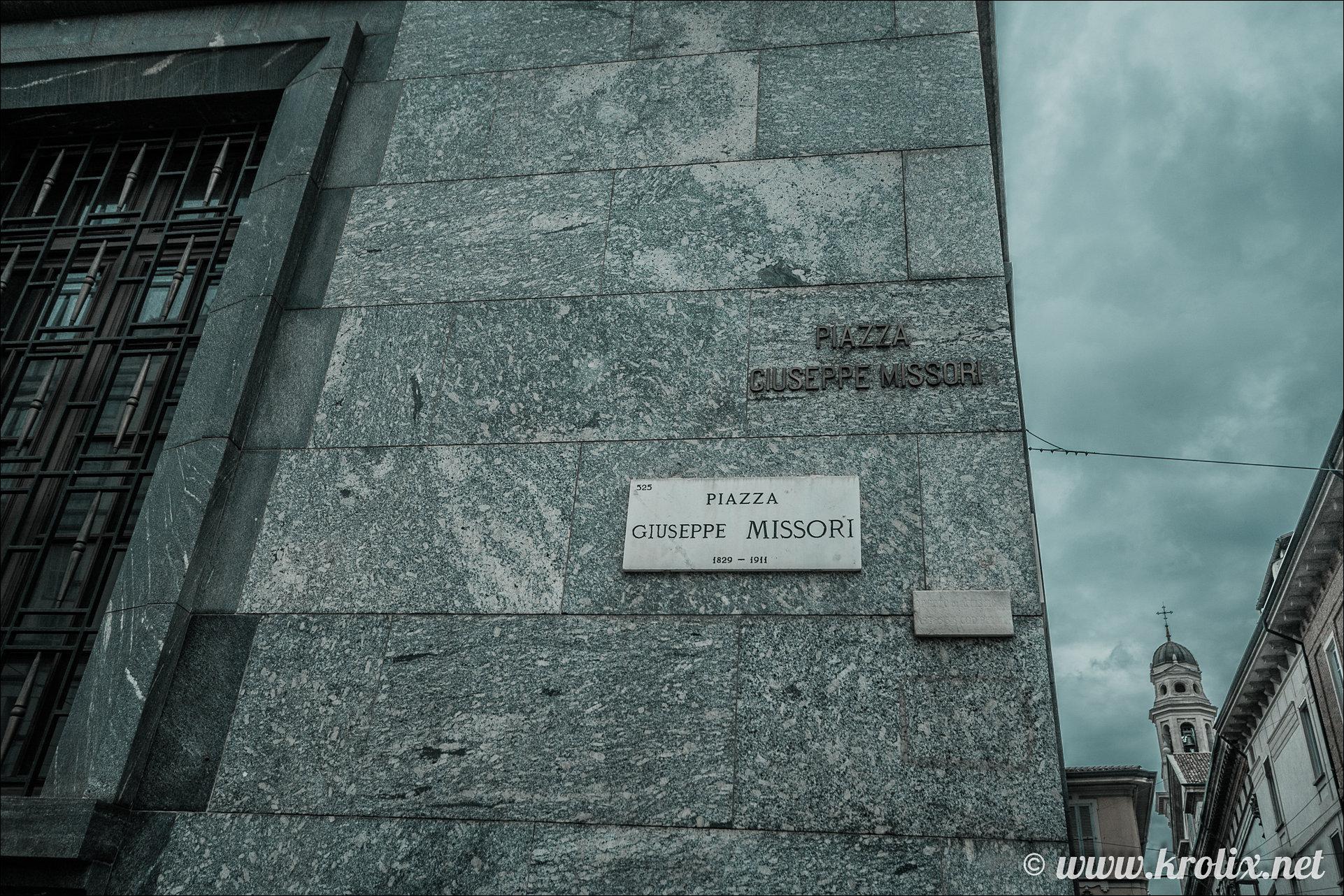 1. Площадь Джузеппе Миссори.