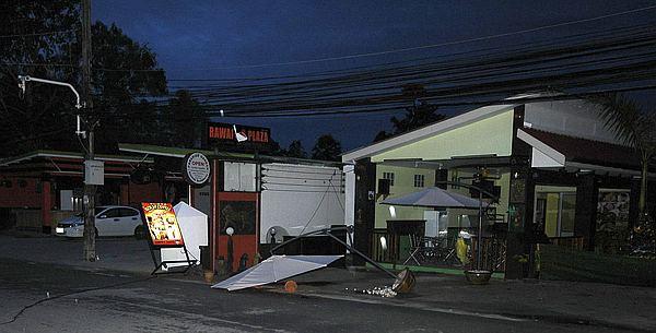 Типичный равайский дворик после заката