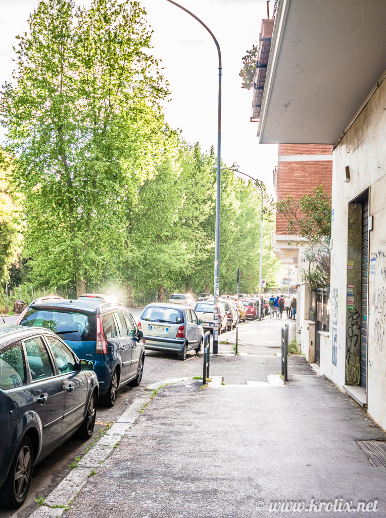 Дорога от метро Marconi к отелю Sogno di Roma