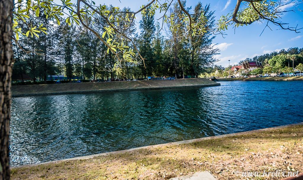 А на островке посреди искусственного озера был тимбилдинг для пожарных...