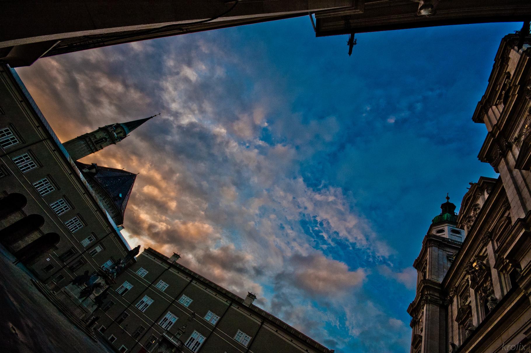 Домплац, кусочек предзакатного неба