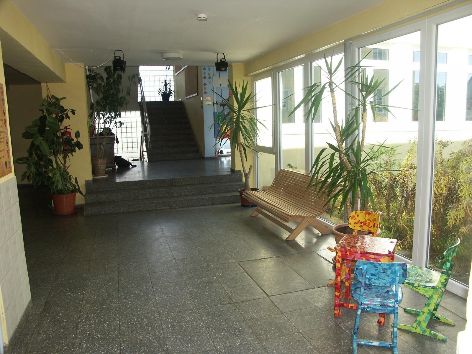 Der freundliche Eingangsbereich