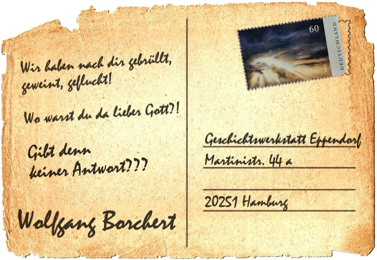 Postkartengrüße zu Wolfgang Borcherts 100. Geburtstag