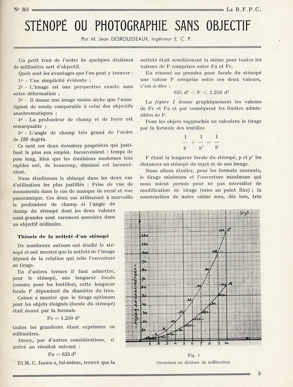 """Alcune pagine con dettagliate informazioni, disegni  e dati tecnici per la costruzione della """"Stenopé"""""""