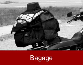 Sacs, sacs arrière, sacs latérale pour la moto
