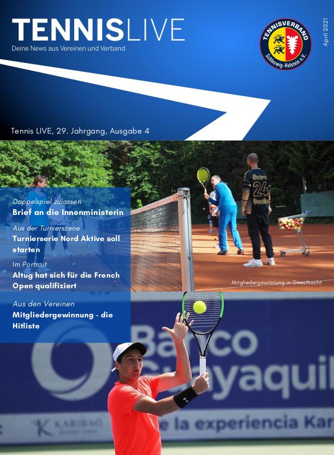 Tennis LIVE, 29. Jahrgang, Ausgabe 4/2021 .... Mitgliederentwicklung: Die Hitliste ... Scharbeutz ist dabei