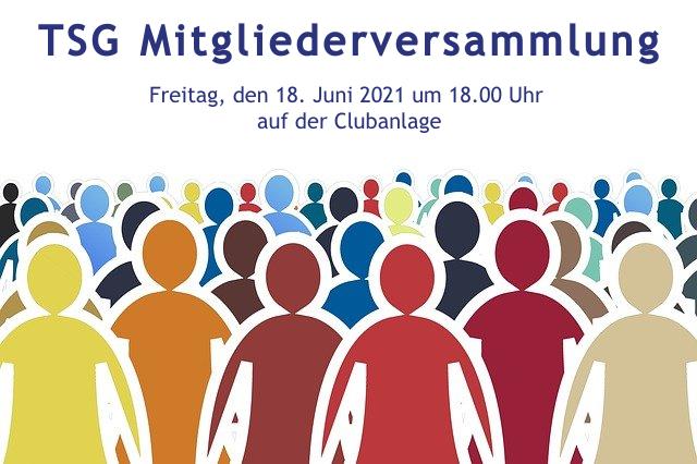 Einladung zur Mitgliederversammlung am 18. Juni 2021 um 18.00 Uhr