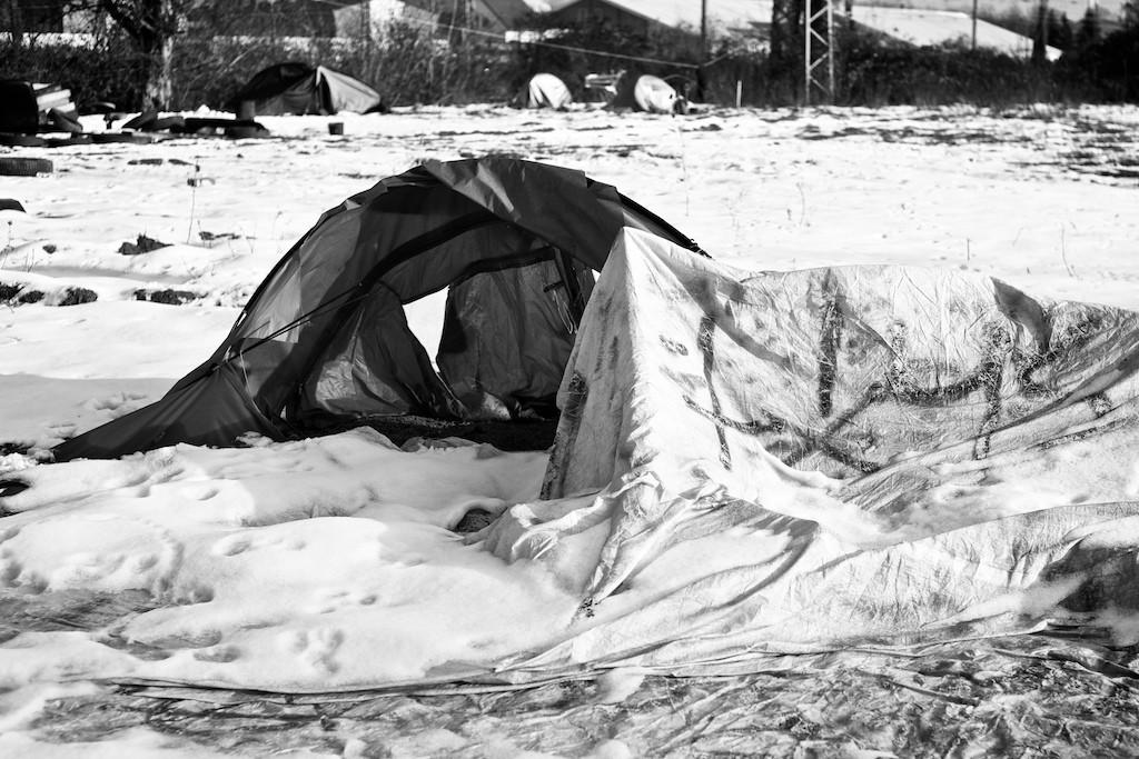 Verlassene Zelte