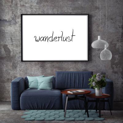 Typografie Reisen, Poster -  Wanderlust