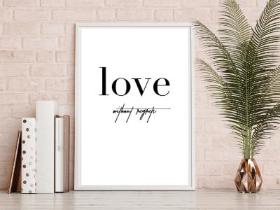 Typografie Print, Liebesposter, Typografie Poster, Geschenkidee