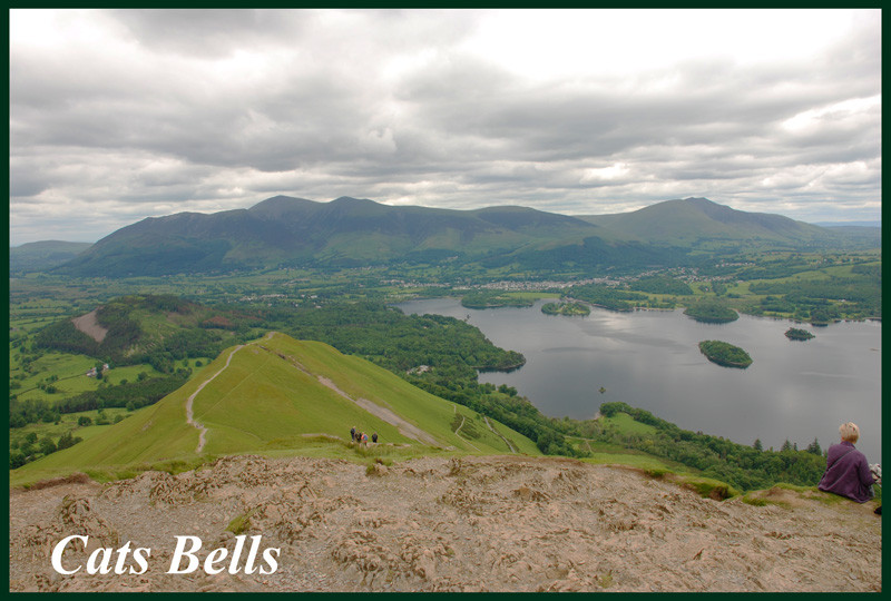 Cats Bell with Skiddaw behind.