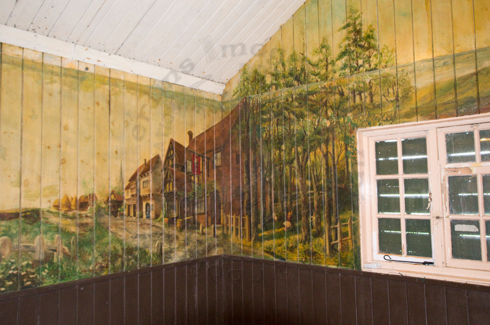 Mural in Ness Hut