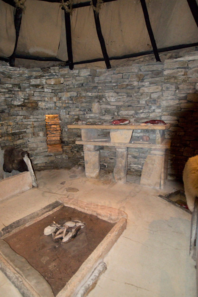 Re-Created Skara Brae Living Room