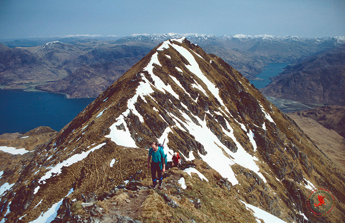 Nearing summit of Ladhair Ben Knoydart.