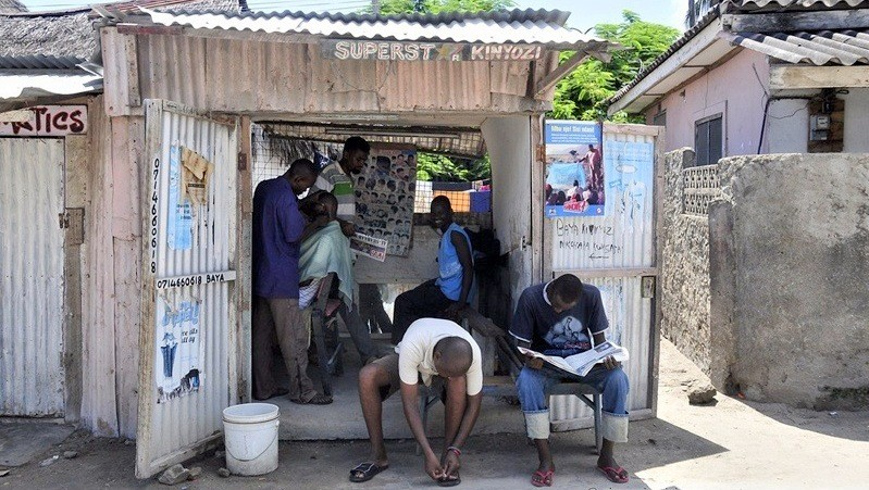 Watamu, Kenya. Barber shop.