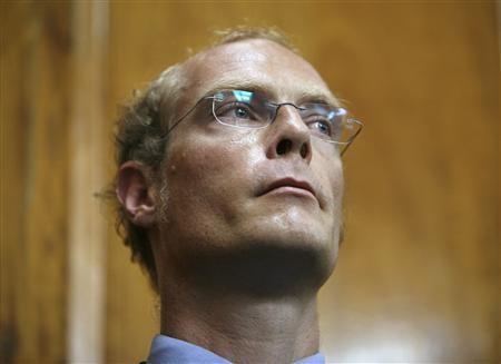 Thomas Patrick Gilbert Cholmondeley durante il suo processo presso l'Alta Corte di Nairobi, 7 maggio 2009.