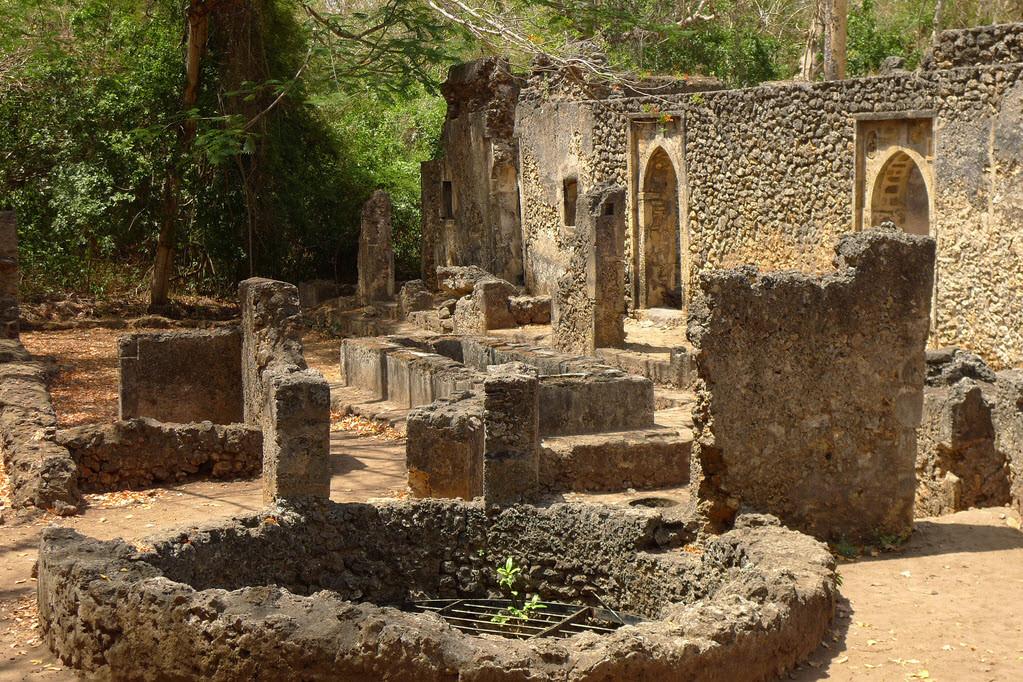 Le rovine di Gede, Kenya. La Grande Moschea.
