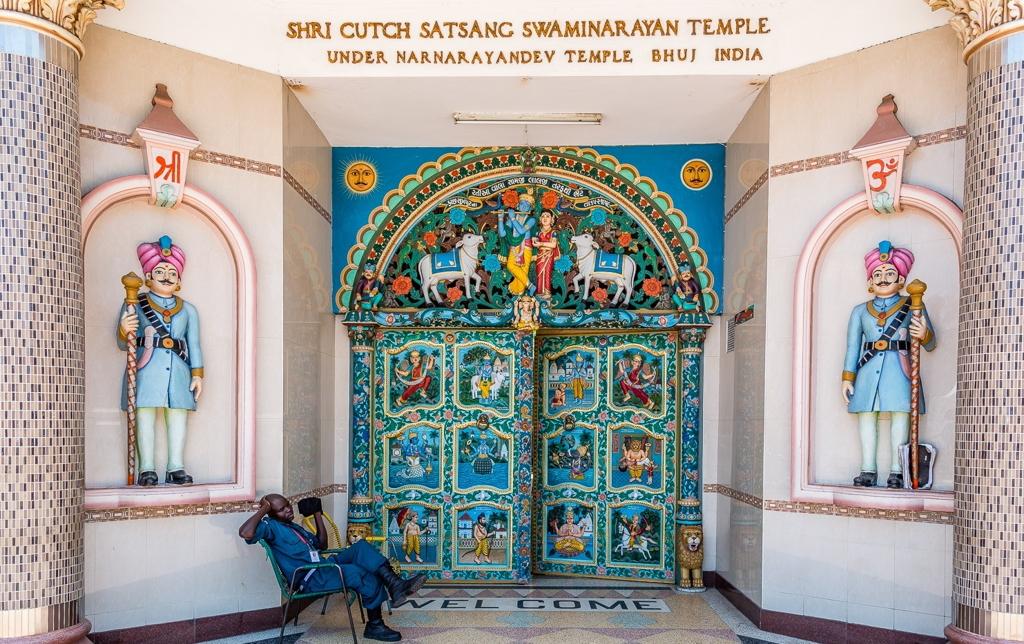Porta di ingresso al Tempio Hindu