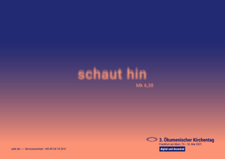 """Digital und dezentral - """"schaut hin"""" der 3. Ökumenische Kirchentag"""