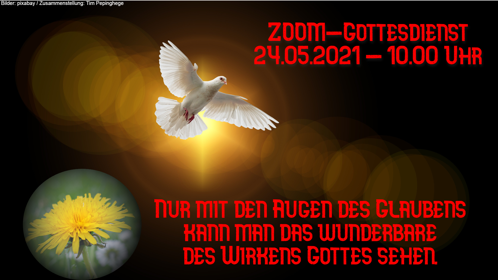 Zoom-Gottesdienst am Pfingstmontag, 24.05.2021