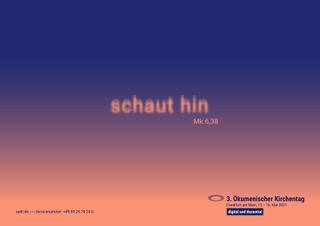 Ökumenischer Zoom-Gottesdienst 'Schaut hin', 08.05.2021