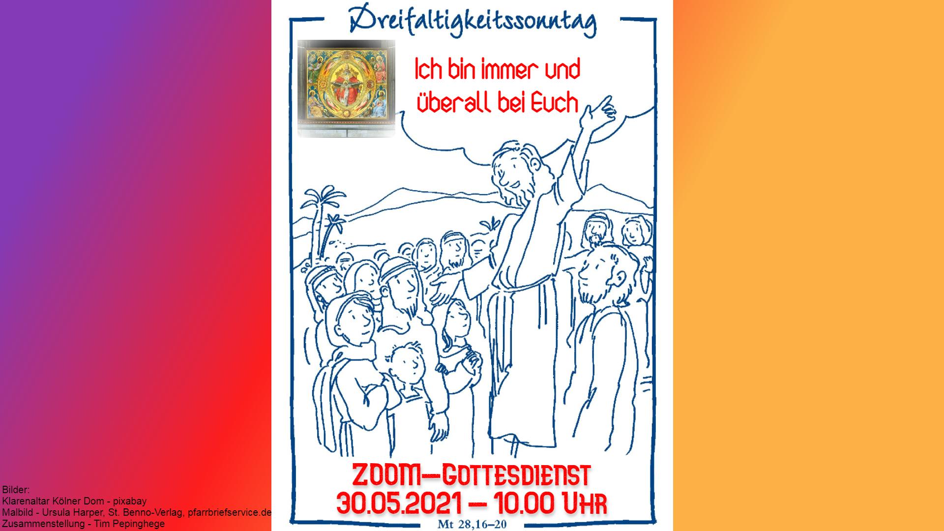 Zoom-Familiengottesdienst am Dreifaltigkeitssonntag