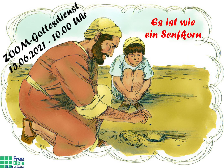 Zoom-Familiengottesdienst am Sonntag,  13.06.2021