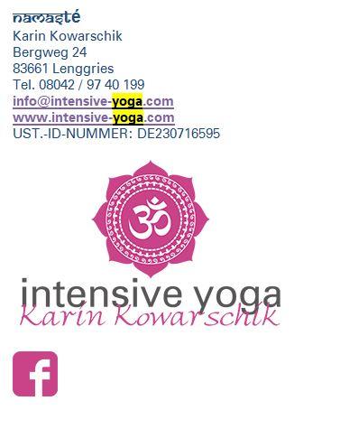E-Mail Signatur Beispiel Intensive Yoga, Karin Kowarschik