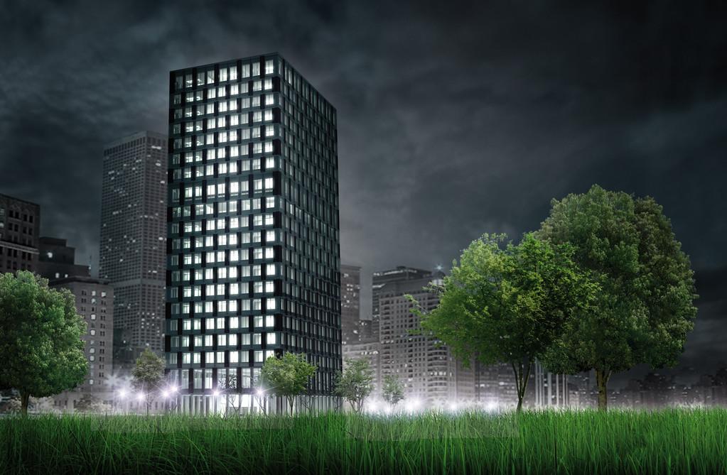 Ein LifeCycle Tower wird in Systembauweise errichtet: viele Module sind bereits ab Werk vorgefertigt und werden am Bauplatz montiert | © Cree GmbH
