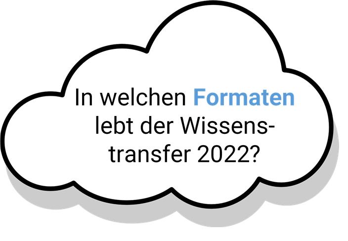 In welchen Formaten lebt der Wissenstransfer in 2022?