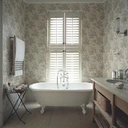 Innenfensterläden mit Klappsystem - geeignet beispielsweise für das Badezimmer