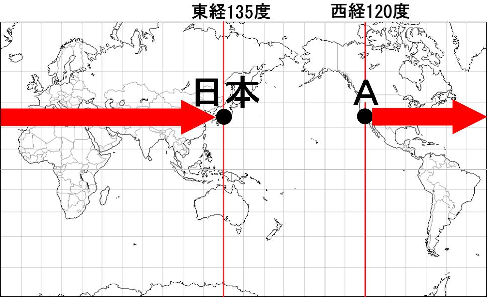 中学地理:各国の標準時と時差(しっかり)