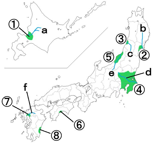 中学地理:日本の地形/穴うめ(ざっくり)